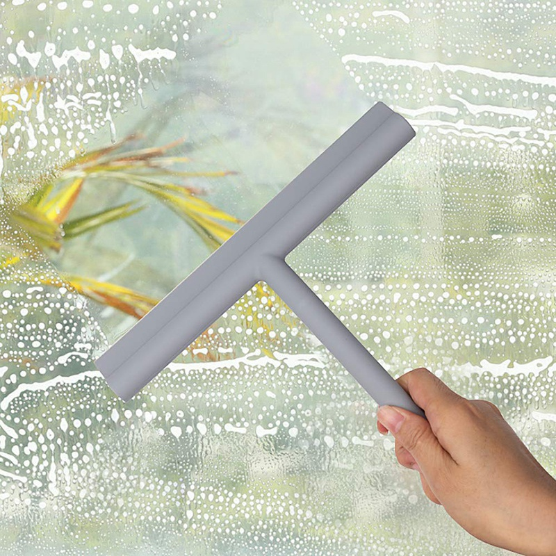 Shower-Squeegee-Window-Glass-Wiper-Scraper-Cleaner-with-Silicone-Blade-amp-Ho-A3G1 thumbnail 7