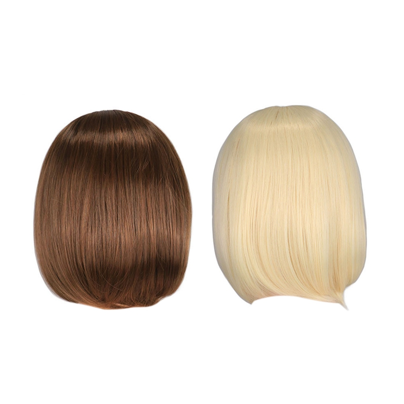 European And American Long Straight Hair Wave Head Short Wig Sale Moms Teach Sex 1