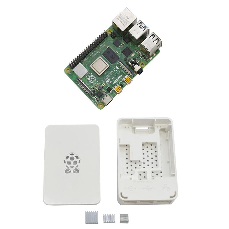 fuer-Raspberry-Pi-4-Modell-B-4G-RAM-ABS-GehaeUse-mit-Silbernen-KueHlkoeRpern-Un-D9C1 Indexbild 4