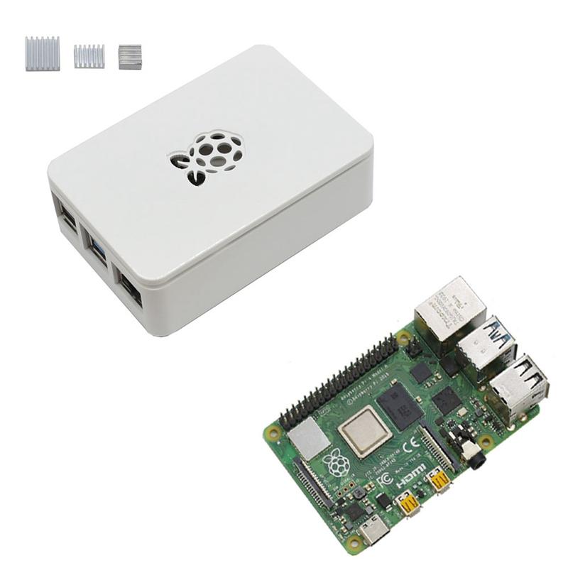 fuer-Raspberry-Pi-4-Modell-B-4G-RAM-ABS-GehaeUse-mit-Silbernen-KueHlkoeRpern-Un-D9C1 Indexbild 7