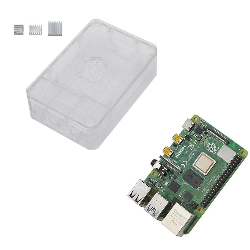 fuer-Raspberry-Pi-4-Modell-B-4G-RAM-ABS-GehaeUse-mit-Silbernen-KueHlkoeRpern-Un-D9C1 Indexbild 14