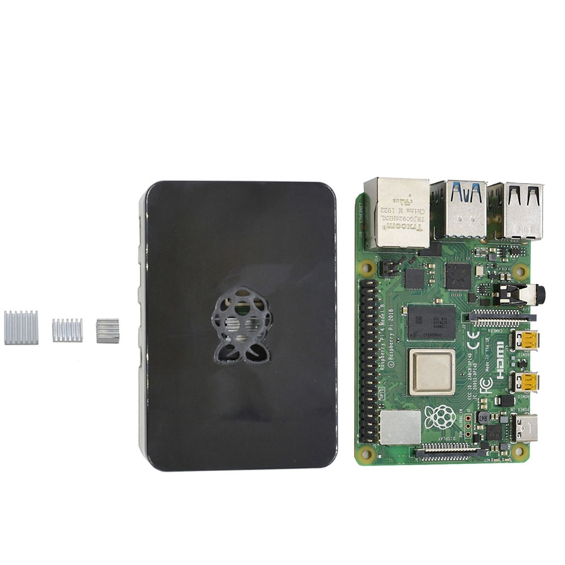 fuer-Raspberry-Pi-4-Modell-B-4G-RAM-ABS-GehaeUse-mit-Silbernen-KueHlkoeRpern-Un-D9C1 Indexbild 17