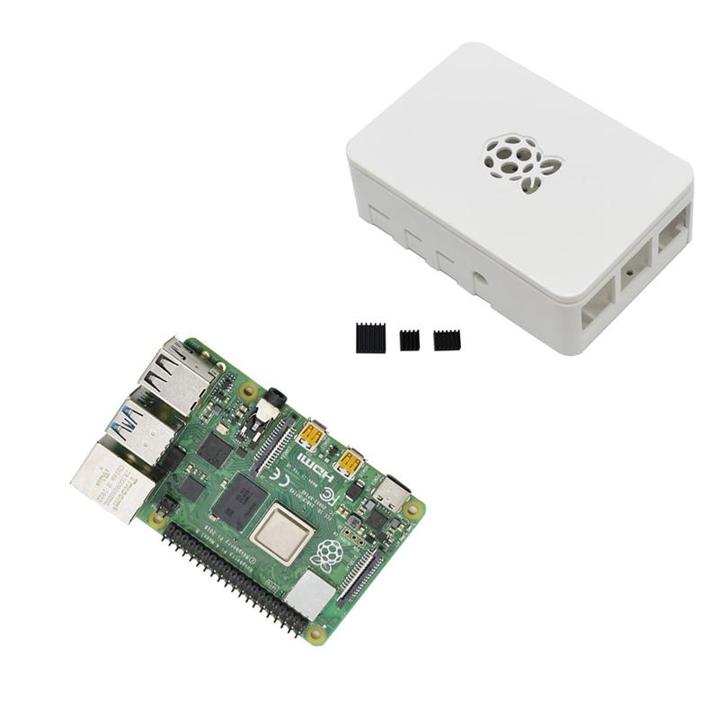 fuer-Raspberry-Pi-4-Modell-B-4G-RAM-ABS-Fall-mit-Schwarzen-KueHlkoeRpern-Unter-Z2L8 Indexbild 4