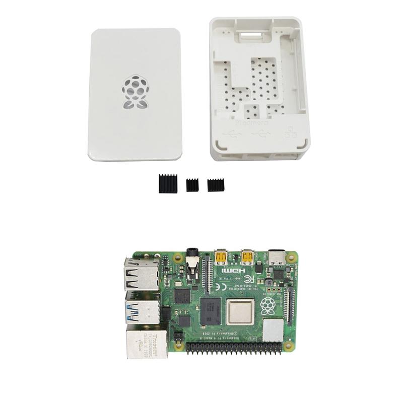 fuer-Raspberry-Pi-4-Modell-B-4G-RAM-ABS-Fall-mit-Schwarzen-KueHlkoeRpern-Unter-Z2L8 Indexbild 5