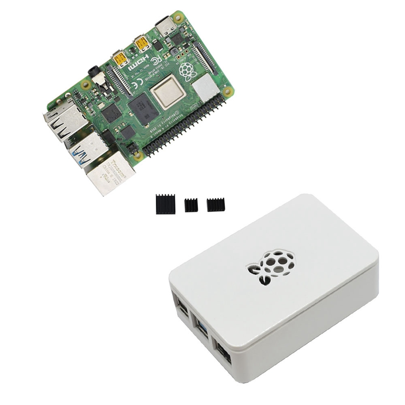 fuer-Raspberry-Pi-4-Modell-B-4G-RAM-ABS-Fall-mit-Schwarzen-KueHlkoeRpern-Unter-Z2L8 Indexbild 6