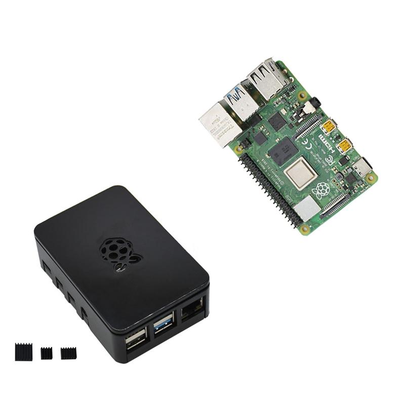 fuer-Raspberry-Pi-4-Modell-B-4G-RAM-ABS-Fall-mit-Schwarzen-KueHlkoeRpern-Unter-Z2L8 Indexbild 10