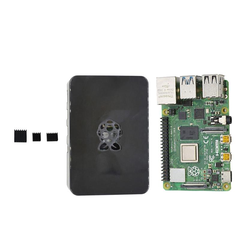 fuer-Raspberry-Pi-4-Modell-B-4G-RAM-ABS-Fall-mit-Schwarzen-KueHlkoeRpern-Unter-Z2L8 Indexbild 11