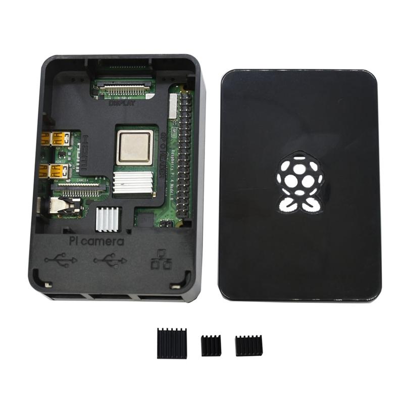 fuer-Raspberry-Pi-4-Modell-B-4G-RAM-ABS-Fall-mit-Schwarzen-KueHlkoeRpern-Unter-Z2L8 Indexbild 13