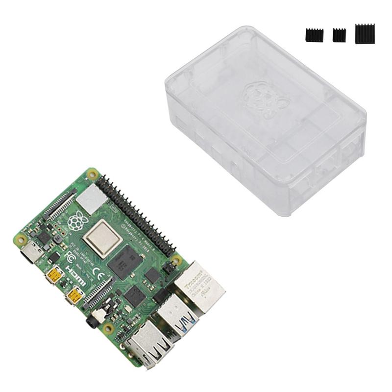 fuer-Raspberry-Pi-4-Modell-B-4G-RAM-ABS-Fall-mit-Schwarzen-KueHlkoeRpern-Unter-Z2L8 Indexbild 18