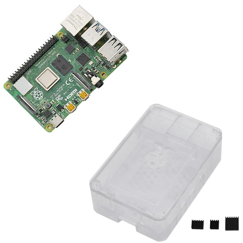 fuer-Raspberry-Pi-4-Modell-B-4G-RAM-ABS-Fall-mit-Schwarzen-KueHlkoeRpern-Unter-Z2L8 Indexbild 19