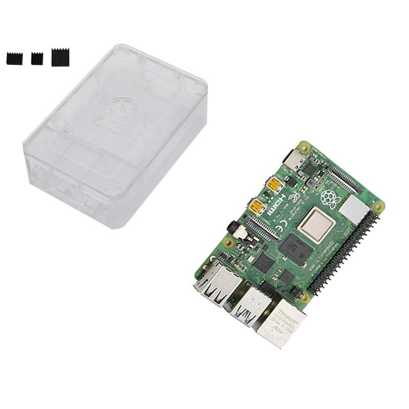 fuer-Raspberry-Pi-4-Modell-B-4G-RAM-ABS-Fall-mit-Schwarzen-KueHlkoeRpern-Unter-Z2L8 Indexbild 20