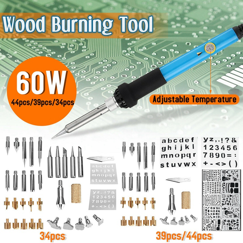 60W-Elektrischer-Holzofen-Stift-LoeTkolben-Kit-Tool-EU-Stecker-N6H8 Indexbild 5