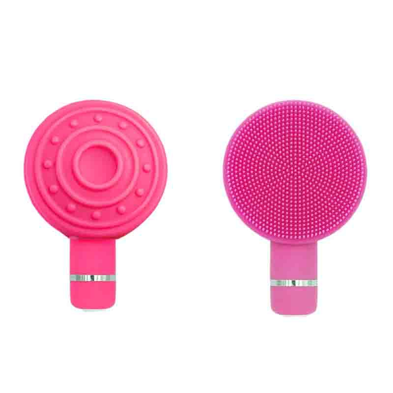 2-in-1-Portable-Silicone-Electric-Face-Cleansing-Instrument-Vibration-Pore-V7O9 thumbnail 5