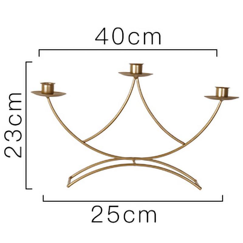 Nordischen-Stil-3D-Candlestick-Metall-Kerzenhalter-Hochzeit-HerzstueCk-Kande-C1D3 Indexbild 3