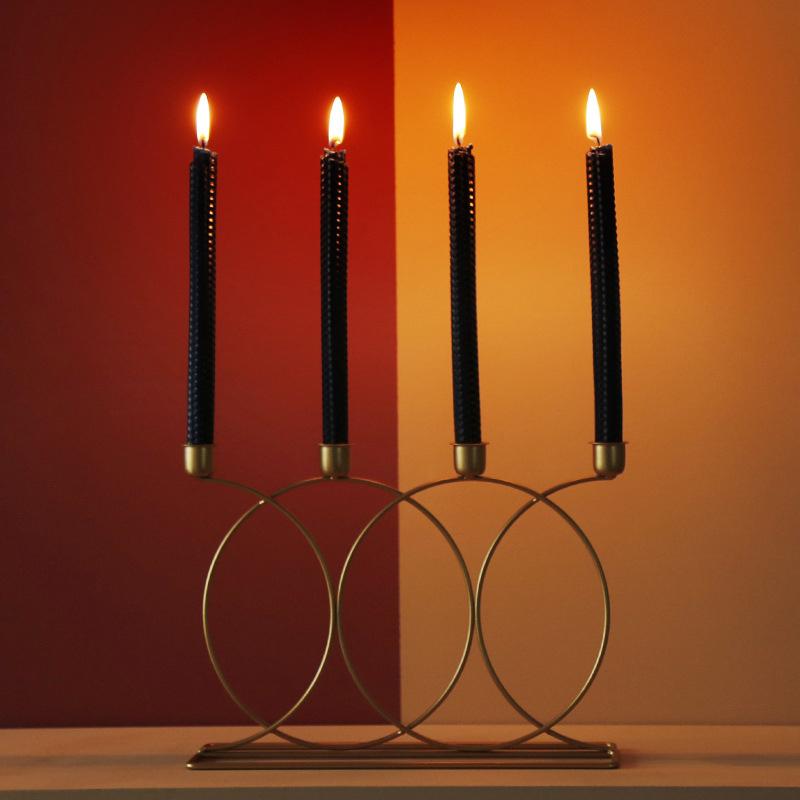 Nordischen-Stil-3D-Candlestick-Metall-Kerzenhalter-Hochzeit-HerzstueCk-Kande-C1D3 Indexbild 4