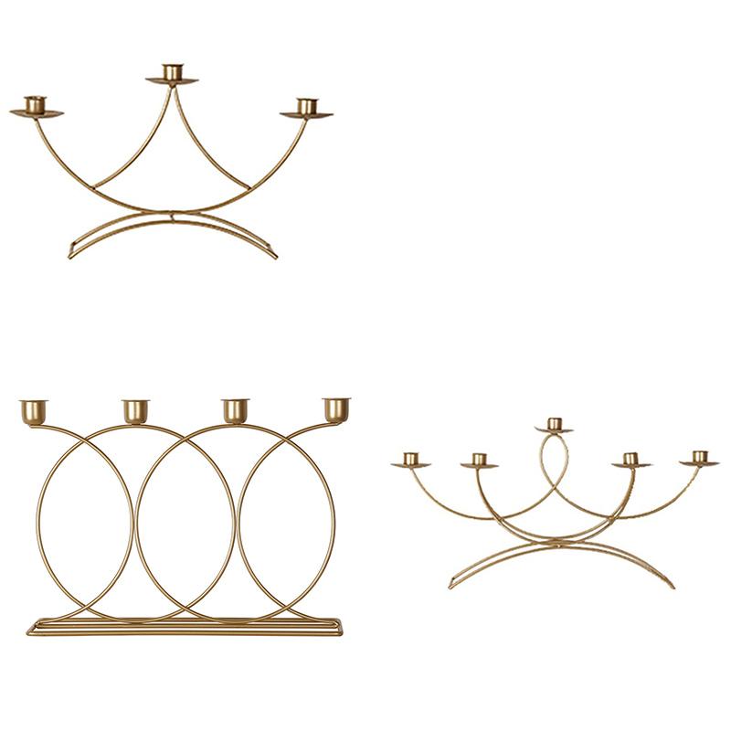 Nordischen-Stil-3D-Candlestick-Metall-Kerzenhalter-Hochzeit-HerzstueCk-Kande-C1D3 Indexbild 6