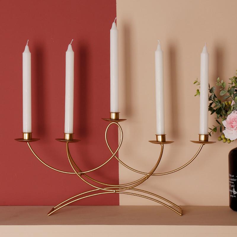 Nordischen-Stil-3D-Candlestick-Metall-Kerzenhalter-Hochzeit-HerzstueCk-Kande-C1D3 Indexbild 7