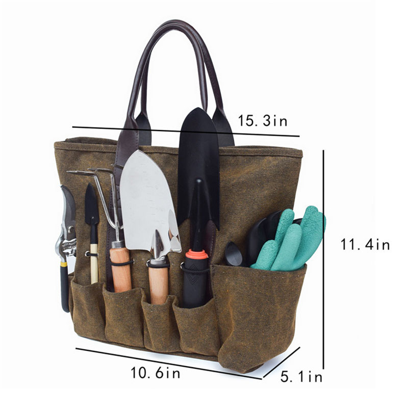 5x Gardening Tool Storage Bag Garden, Canvas Garden Tool Bag