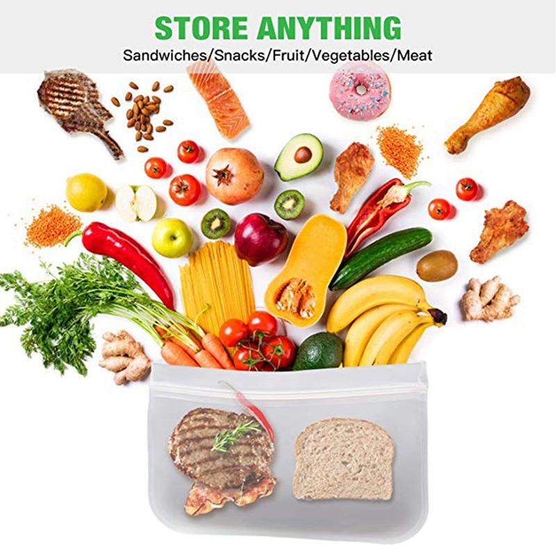 Sacs-de-Stockage-eCologiques-ReUtilisables-Sacs-a-Sandwichs-et-Sacs-Sandwi-S6P7 miniature 3