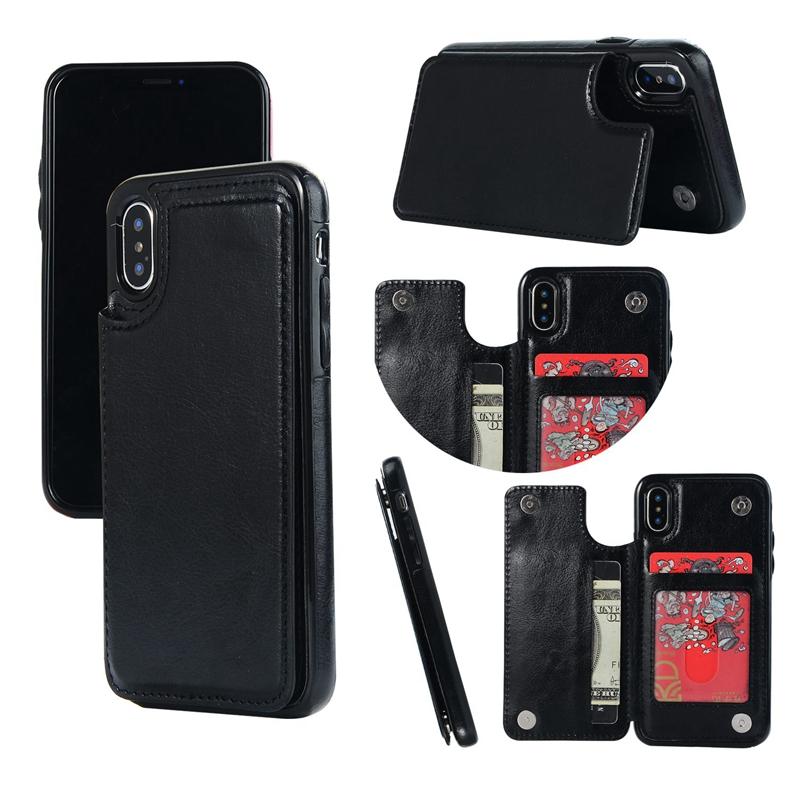 Indexbild 4 - fuer-das-IPhone-Magnetische-Leder-Brieftasche-Fall-Kartensteckplatz-StossFest-R1V3