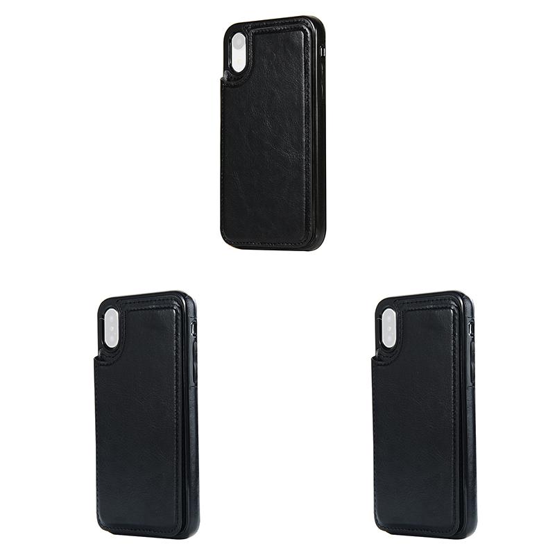 Indexbild 7 - fuer-das-IPhone-Magnetische-Leder-Brieftasche-Fall-Kartensteckplatz-StossFest-R1V3
