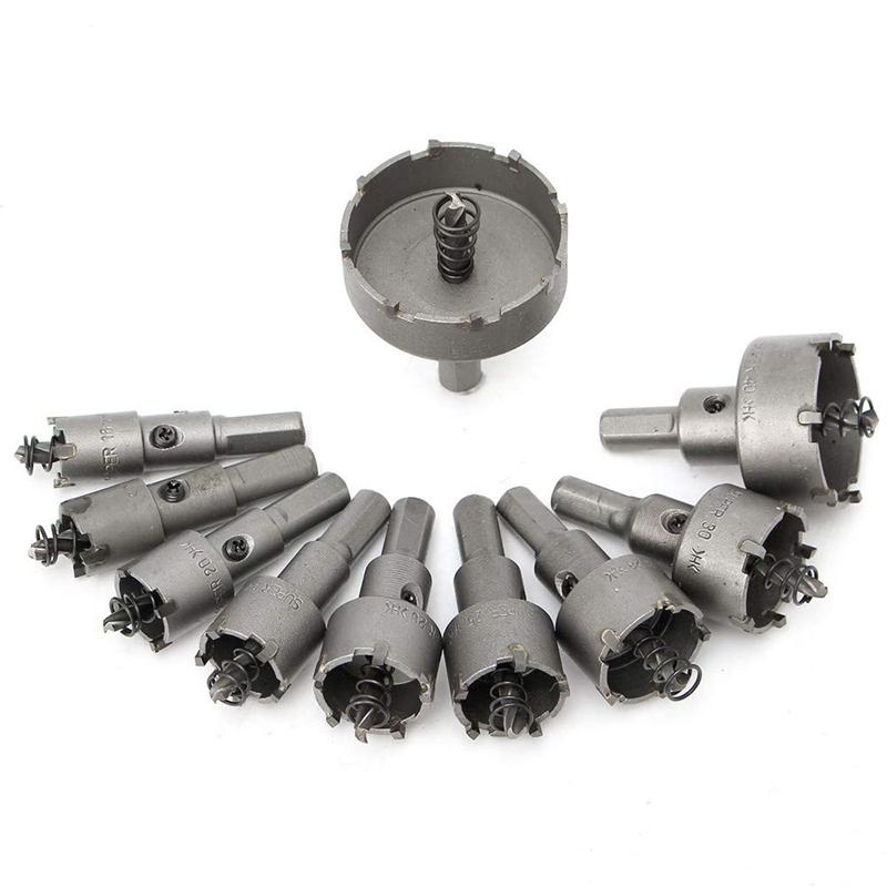 Brocas de metal para sierra perforadora BE-TOOL TCT con punta de carburo de metal y punta de aleaci/ón de carburo plateado