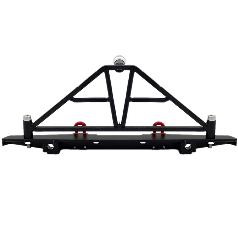 Indexbild 4 - 1-10-RC-Crawler-Metal-Bumper-mit-Beleuchtung-fuer-1-10-Axial-SCX10-90046-RC-J6G1
