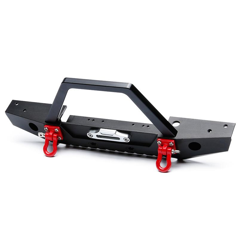 Indexbild 5 - 1-10-RC-Crawler-Metal-Bumper-mit-Beleuchtung-fuer-1-10-Axial-SCX10-90046-RC-J6G1