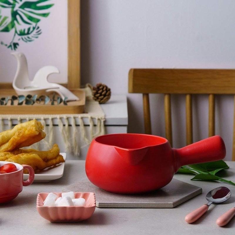 500-Ml-Keramik-WaeRmer-Milch-Butter-Mini-Topf-Kochgeschirr-KueChe-Kochgeschir-I2R9