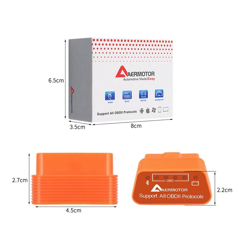 1X-Adaptateur-Android-Sous-Windows-IOS-de-Windows-Aermotor-ELM327-OBD2-Scan-V1L9 miniature 6