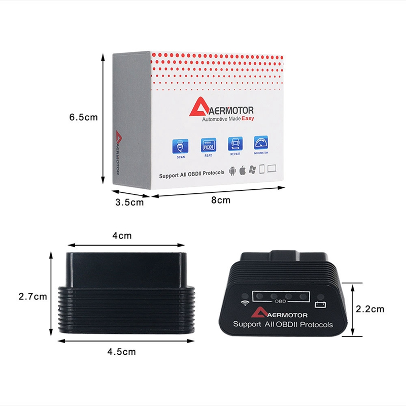 1X-Adaptateur-Android-Sous-Windows-IOS-de-Windows-Aermotor-ELM327-OBD2-Scan-V1L9 miniature 27