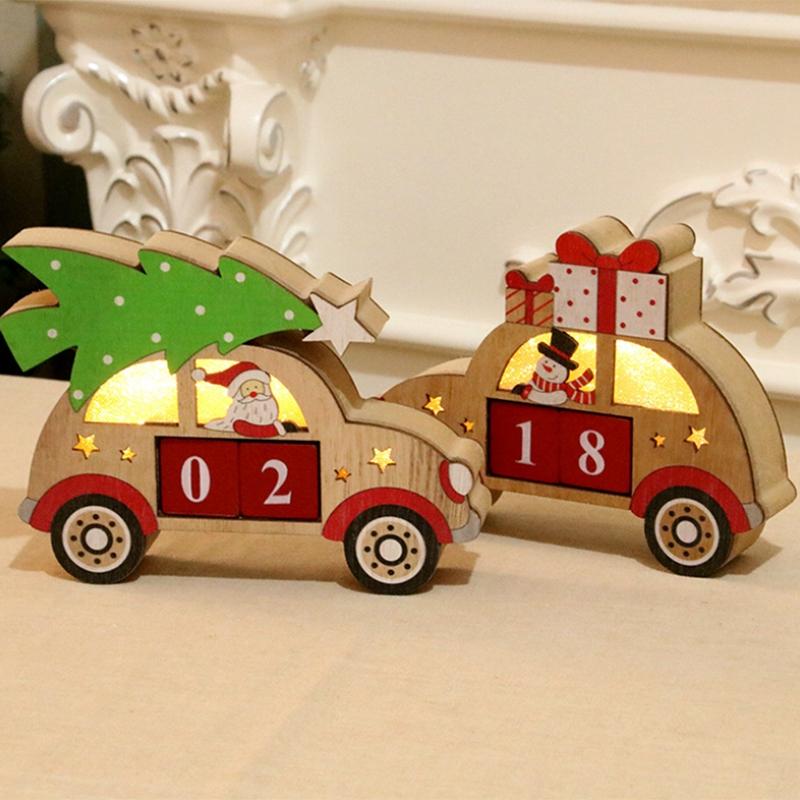 Calendriers-de-L-039-Avent-de-NoeL-en-Bois-DeCorations-de-NoeL-pour-la-Maison-D-Z4C1 miniature 4