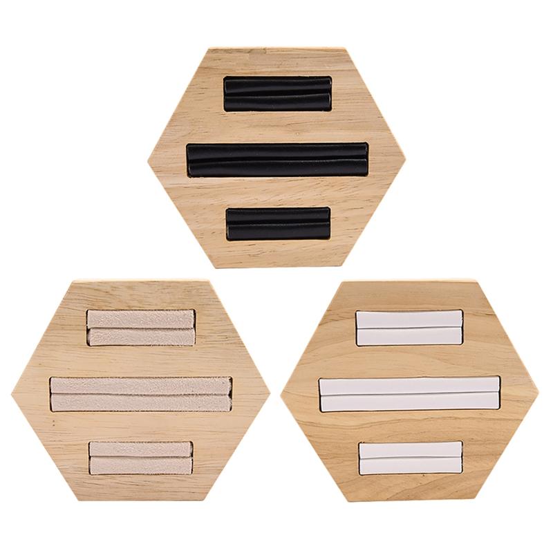 Indexbild 16 - Holz Ring Insert Display Halter Fach Schmuck Aufbewahrungsbox Organizer Sho D3R9