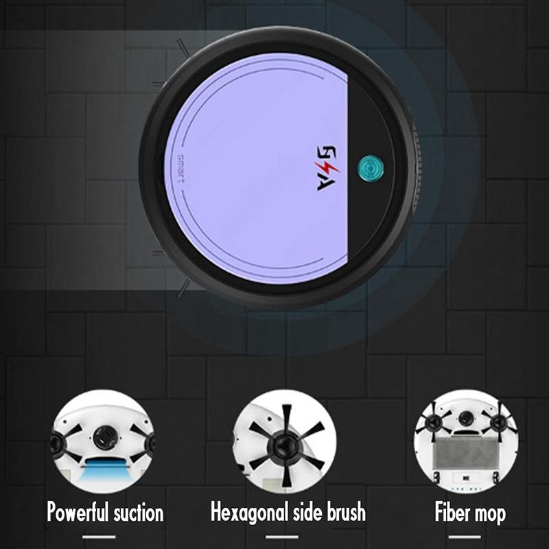 Wiederaufladbare-Smart-Robot-4-im-1-3200Pa-USB-Auto-Smart-Kehrroboter-UV-St-G2C8 Indexbild 3