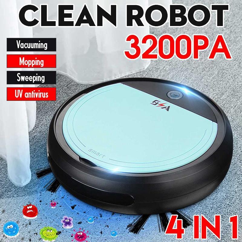 Wiederaufladbare-Smart-Robot-4-im-1-3200Pa-USB-Auto-Smart-Kehrroboter-UV-St-G2C8 Indexbild 30