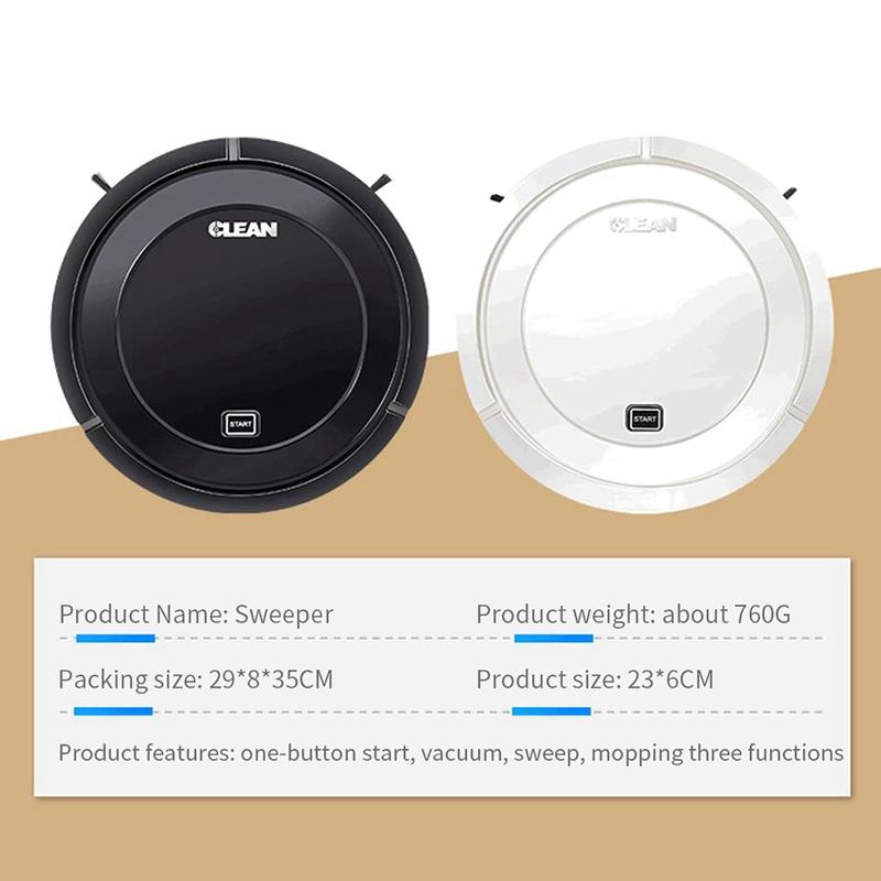 1X-Balayage-Automatique-Robot-Aspirateur-USB-Charge-MeNage-Sans-Fil-Aspirat-A4G9 miniature 3