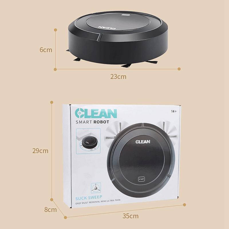 1X-Balayage-Automatique-Robot-Aspirateur-USB-Charge-MeNage-Sans-Fil-Aspirat-A4G9 miniature 4
