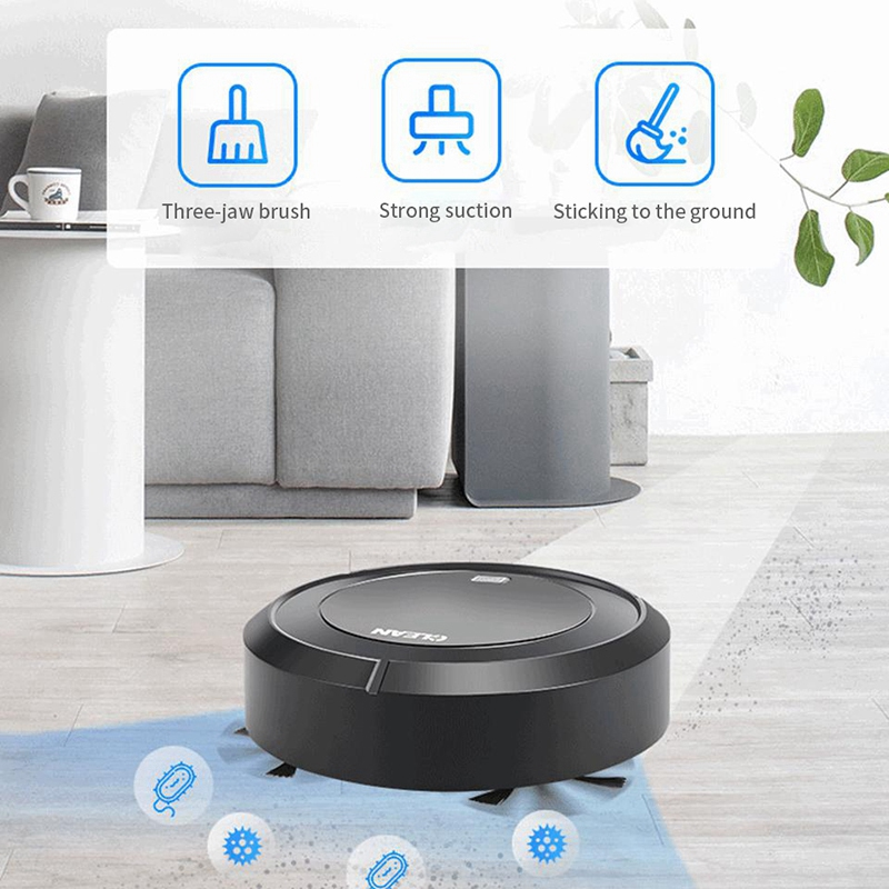1X-Balayage-Automatique-Robot-Aspirateur-USB-Charge-MeNage-Sans-Fil-Aspirat-A4G9 miniature 18