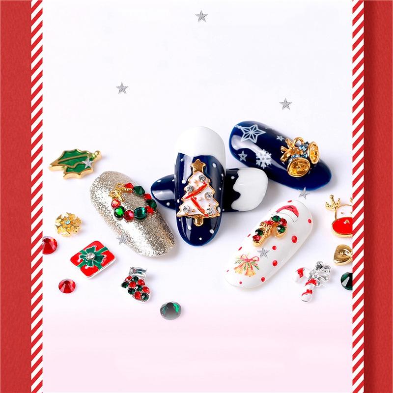 Nail-Colorful-Nail-Christmas-Rhinestone-Series-3D-Manicure-Nail-Art-Decor-DJ4K8 thumbnail 6