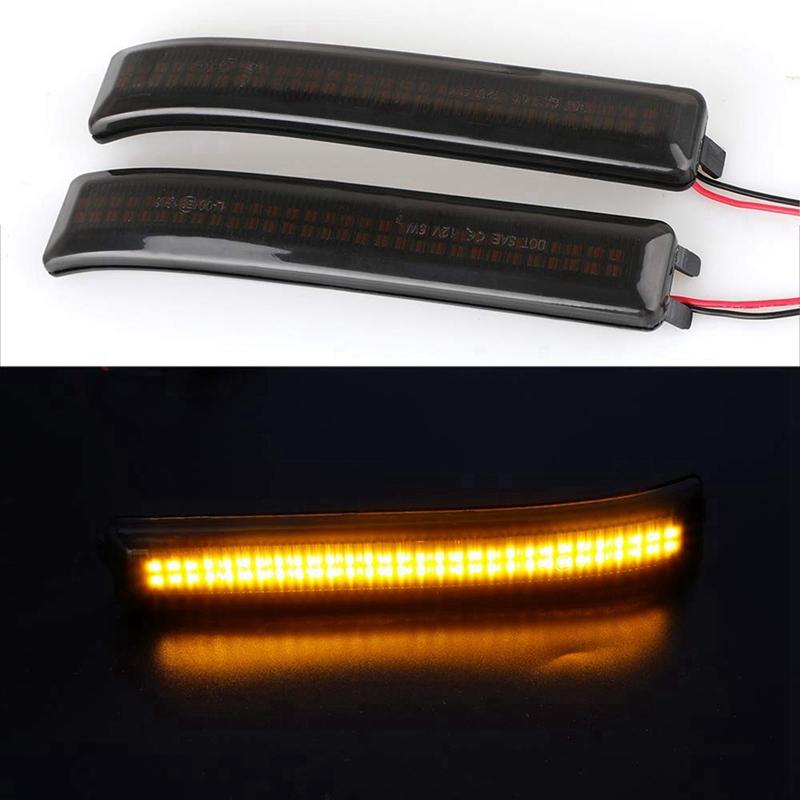 intermitentes 2 luces LED de alta calidad de color amarillo y naranja 73151 intermitentes laterales color negro ahumado intermitentes