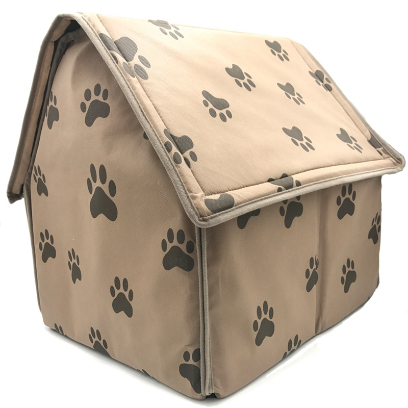 Dog-House-Dog-Bed-Foldable-Cat-House-Small-Footprint-Pet-Bed-Tent-Cat-Kenne-R5I0 thumbnail 2