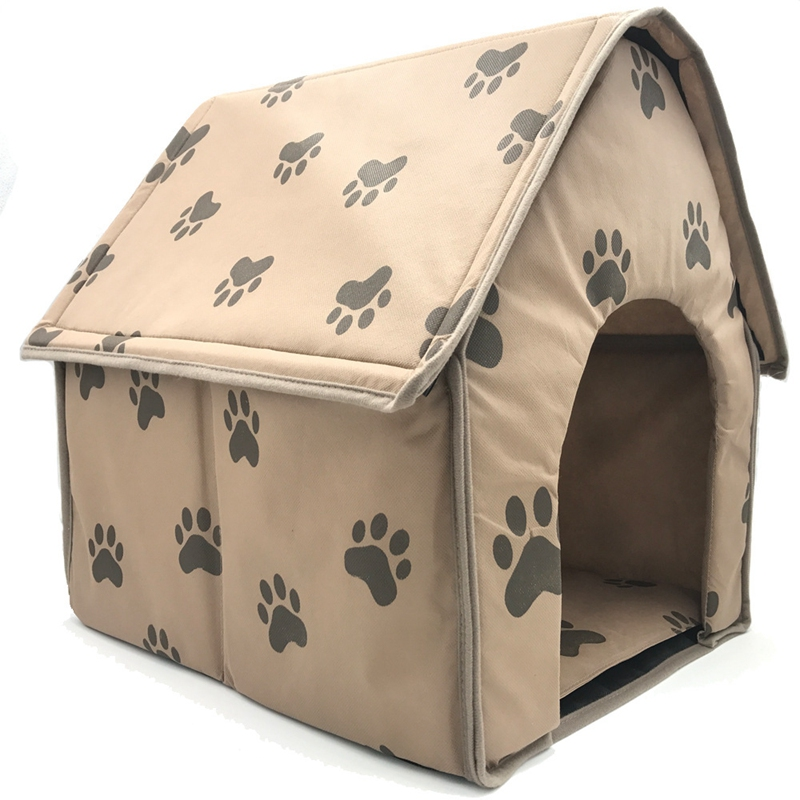 Dog-House-Dog-Bed-Foldable-Cat-House-Small-Footprint-Pet-Bed-Tent-Cat-Kenne-R5I0 thumbnail 3