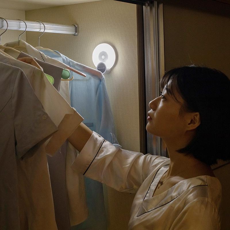 Wand-Leuchte-Aromatherapie-Nacht-Licht-mit-Bewegungs-Melder-Wand-Not-Leucht-E7U3 Indexbild 6