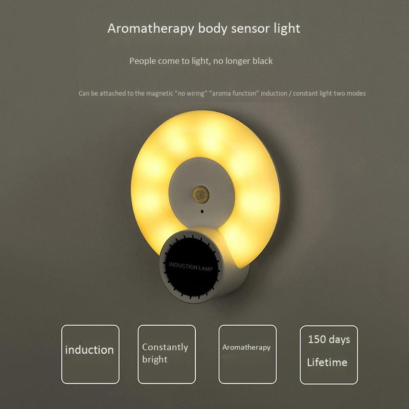 Wand-Leuchte-Aromatherapie-Nacht-Licht-mit-Bewegungs-Melder-Wand-Not-Leucht-E7U3 Indexbild 9