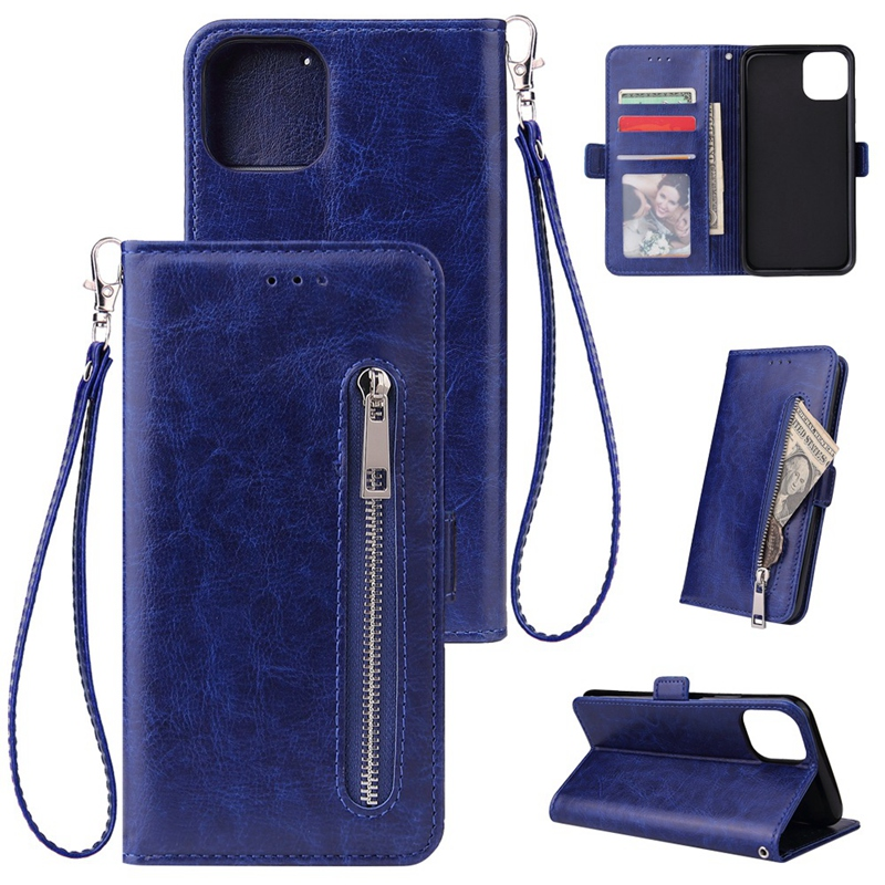 Indexbild 3 - Male Phone Wallet für IPhone 11 Stand Zip Cover für Apple 6 6S 7 8 Plus Mul K6A3