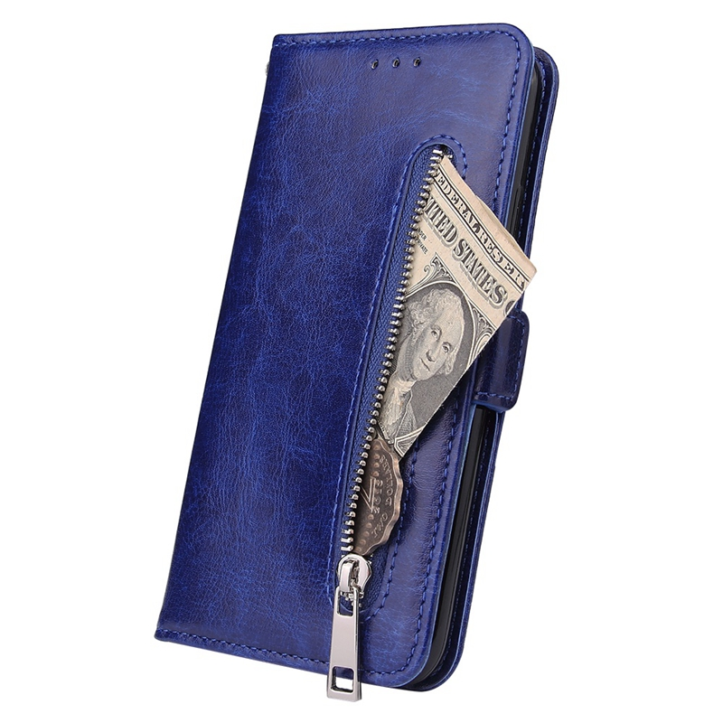 Indexbild 6 - Male Phone Wallet für IPhone 11 Stand Zip Cover für Apple 6 6S 7 8 Plus Mul E6N4