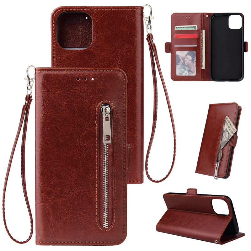 Indexbild 9 - Male Phone Wallet für IPhone 11 Stand Zip Cover für Apple 6 6S 7 8 Plus Mul K6A3