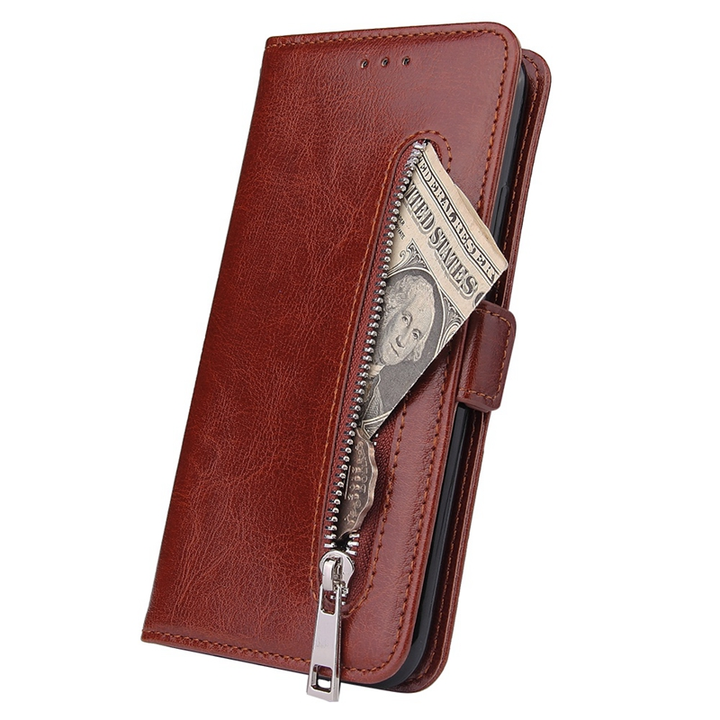 Indexbild 12 - Male Phone Wallet für IPhone 11 Stand Zip Cover für Apple 6 6S 7 8 Plus Mul K6A3