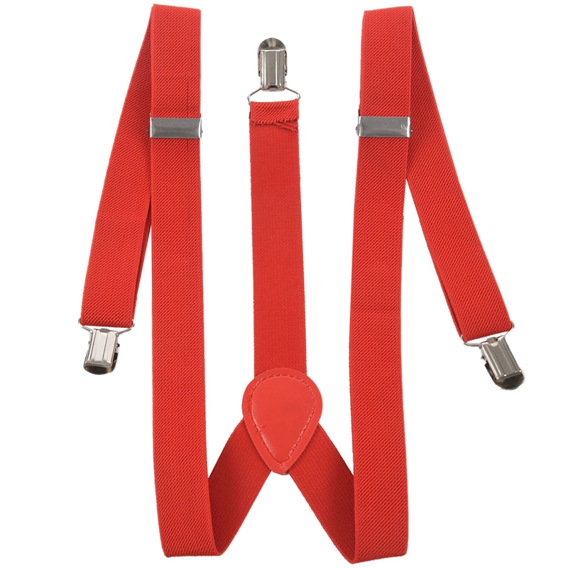 Sequin Suspenders Unisex Adjustable Braces Clipon Elastic Y-Back Dance Red New