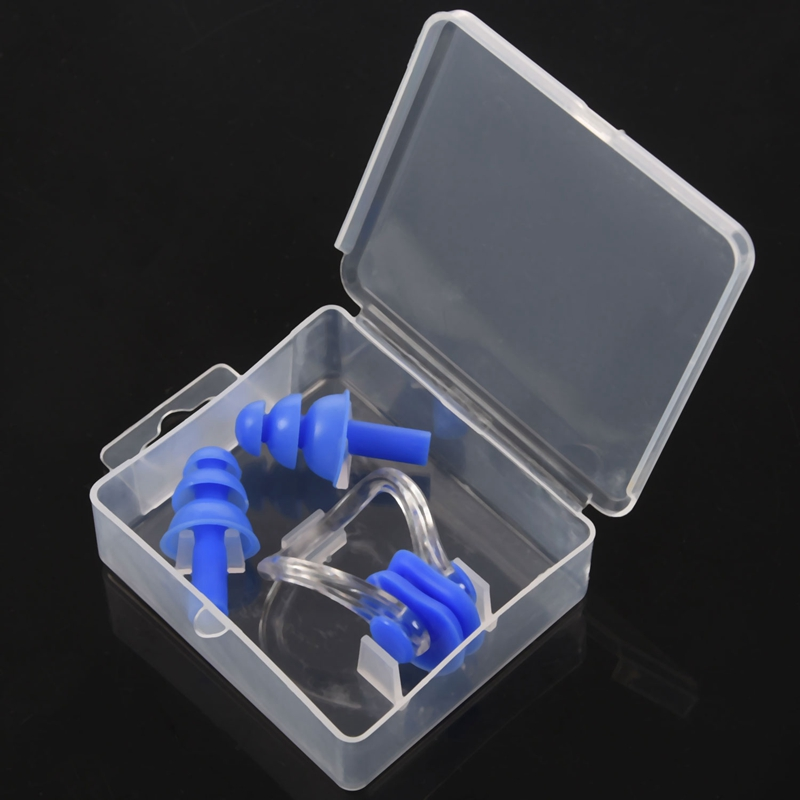 1Set Erwachsene Silikon Schwimmen Nasenclip Ohrstöpsel Wasserdichtes Poolzu W5D5